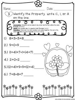 Valentine's Math Review