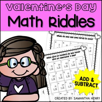 valentine 39 s math riddles by samantha henry teachers pay teachers. Black Bedroom Furniture Sets. Home Design Ideas