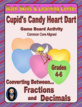Valentine's Math Skills & Learning Center (Converting Frac