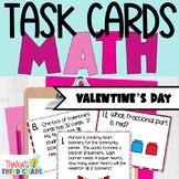 Valentine's Math Task Cards Scoot 3rd 4th Grade CCSS TEKS