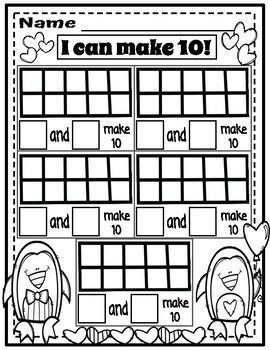 Ways to Make 10 || Worksheets