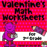 Valentine's Math Worksheets for 2nd Grade