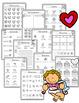 Valentine's Math and ELA Worksheets Kindergarten