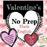 Valentine's Maths and English Pack (Comprehension, word pr