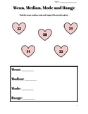 Valentine's Mean, Median, Mode and Range