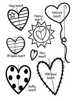 Valentine's Measuring (inches & centimeters)