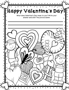 Valentines Day Messages and Coloring Pages