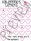 Valentine's Missing Letters Fill in the Blank