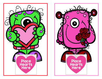 Valentine Monsters - A Dolch Sight Words Game - Includes all 220 Sight Words!