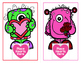 Valentine Monsters - A Dolch Sight Words Game - Includes a