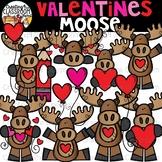 Valentine's Moose Clipart {Valentine's Clipart}