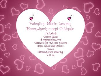 Valentine's Music Lesson: Boomwhacker and Ostinato