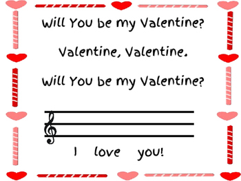Valentine's Music Lesson: Composition and Solfege