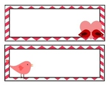 Valentine's Name Tags/Labels