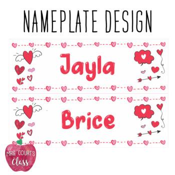 Valentine's Nameplates (Editable)