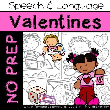 Valentine's: No Prep Speech and Language