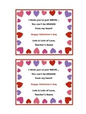 Valentine's Note to Students