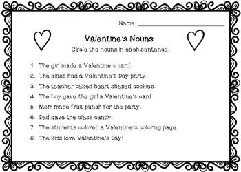 Valentine's Nouns
