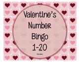 Valentine's Number Bingo 1-20