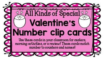 Valentine's Number Clip Cards