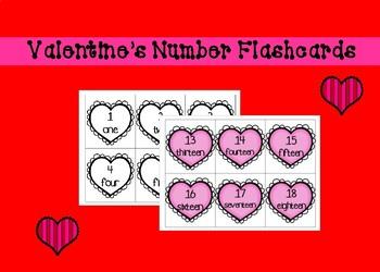 Valentine's Number Flashcards