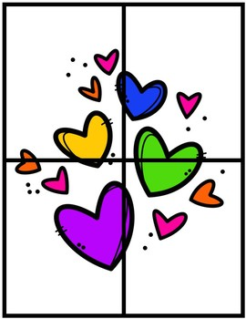 Valentine's Number Fluency Puzzle Cards   English   1-10