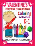 Valentine's Number Recognition Activities For Kindergarten and Grade One