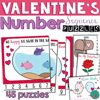 Valentine's Number Sequence Puzzles