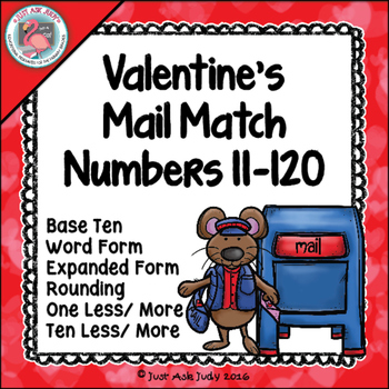 Place Value Sorting Activity Valentine's Numbers 11-120