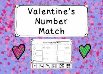 Valentine's Numbers Match