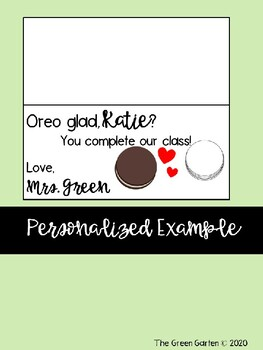 Valentine's Oreo Gift Tag