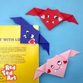 Valentine's Origami Bat - Simple STEAM Valentine's Day Act