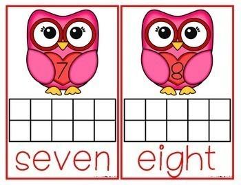 Valentine's Owl Themed Ten Frames