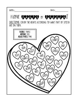 Valentine's Parts of Speech!