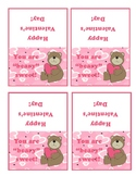 Valentine's Party--Bear Favor Tags