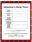 Valentine's Party Note EDITABLE