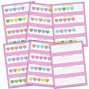 Valentine's Pattern Cards