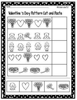 Valentine's Pattern Cut and Paste FREEBIE