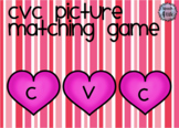 Valentine's Picture Matching CVC Words for Minimal Pairs,