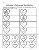 Valentine's Picture and Word Match
