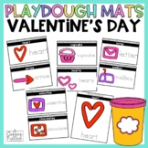Valentine's Play Dough Mats Valentine's Center Activity