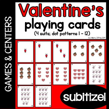 Valentine's Playing Cards (Subitize!)