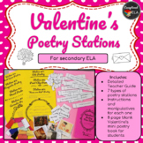 Valentine's Poetry Stations for Secondary ELA