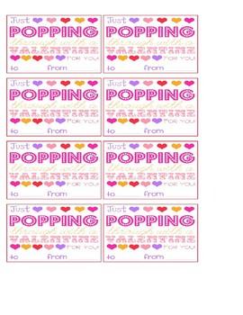 Valentine's Popcorn Tag