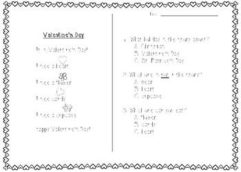Valentine's Reading Comprehension