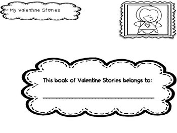 Valentine's Reading Comprehension Thumb-Tabs Book for K-1