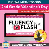 Valentine's Reading Fluency in a Flash 2nd Grade • Digital Fluency Mini Lessons