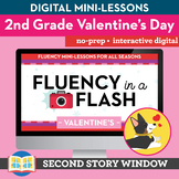 Valentine's Reading Fluency in a Flash 2nd Grade • Digital