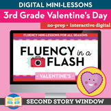 Valentine's Reading Fluency in a Flash 3rd Grade • Digital