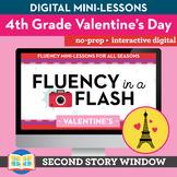Valentine's Reading Fluency in a Flash 4th Grade • Digital